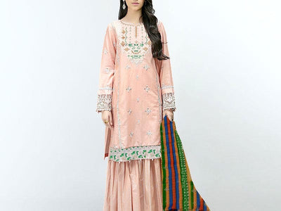 Embroidered Lawn Suit with Chiffon Dupatta (DZ13785)