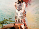 Embroidered Lawn Dress with Chiffon Dupatta (DZ13786)