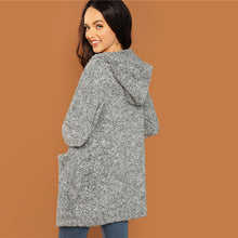 Load image into Gallery viewer, Grey Casual Hooded Pocket Jacket
