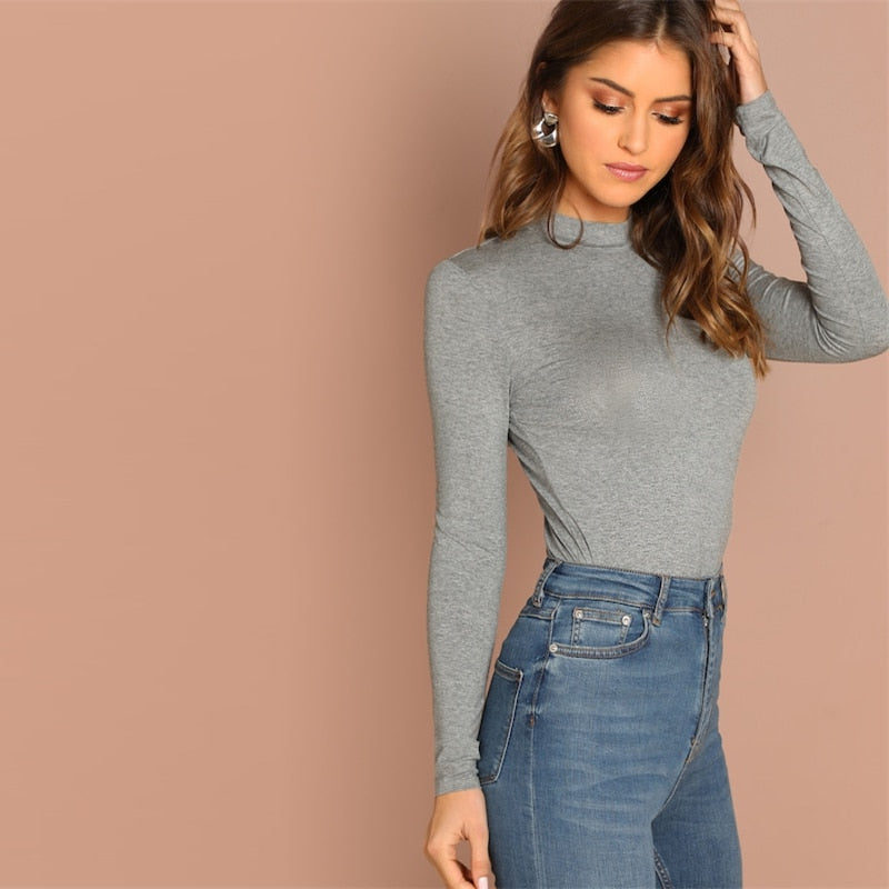 Grey Plain Top