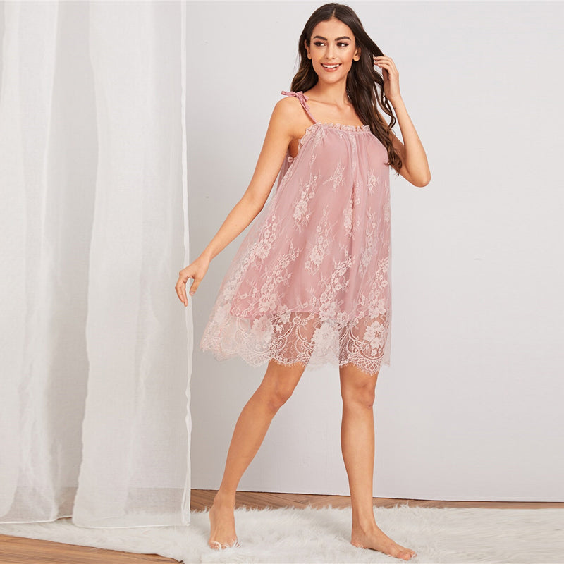 Lace Night Dress