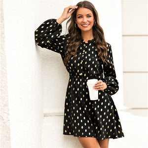 Polka Dot Lace Dress