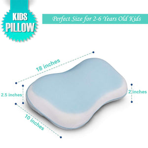 wavveUziz Memory Foam Toddler Kids Baby Pillow with Pillowcase Cover Cool Gel Pad