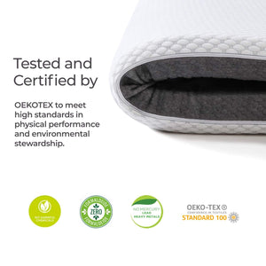 wavveUziz 3 Inch Gel Infused Memory Foam Mattress Topper, Ventilated 2-Layer Design with Removable Cover for All Seasons