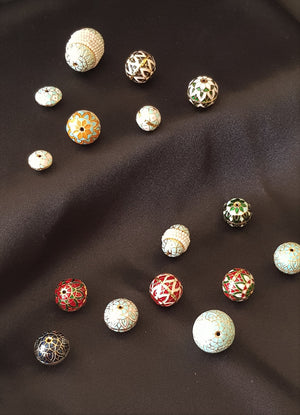 Painted Enamel/ Meena Beads