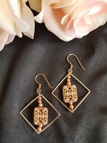 Rose Gold Geometric Earrings