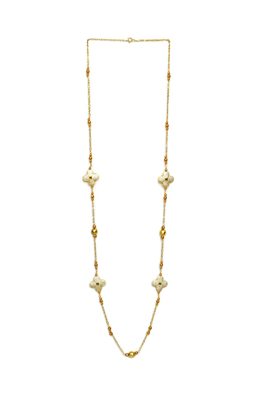Floral Cubic Zirconia Necklace