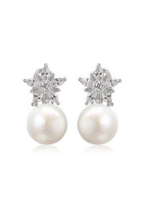 Belle pearl drop earrings