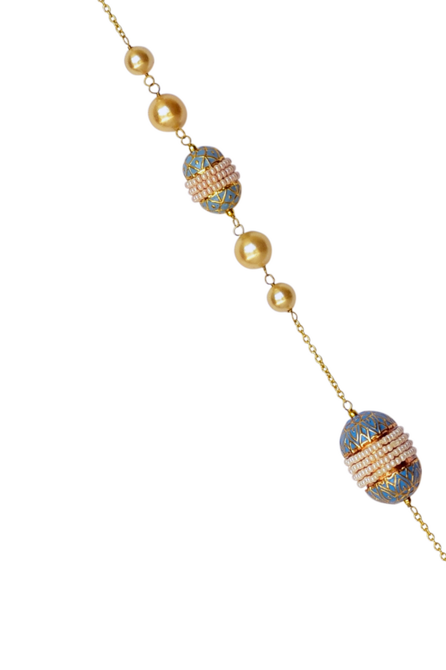 Noorhan Necklace - Pearl and Enamel Meena