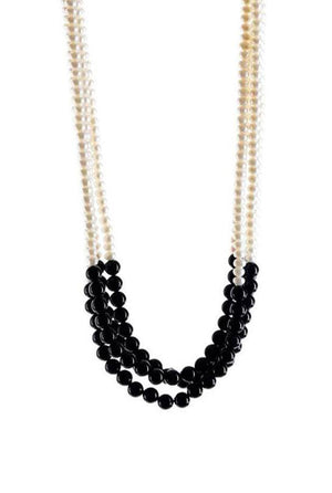 Pearl & Black Onyx Necklace