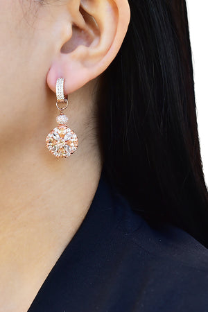 Dahlia Huggie Hoop Earrings Rose Gold Lifestyle