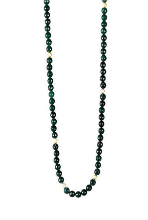 Amani Long Necklace - Faceted Green Agate