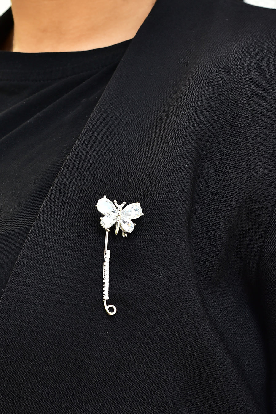 Ice Butterfly Brooch/ Scarf Pin
