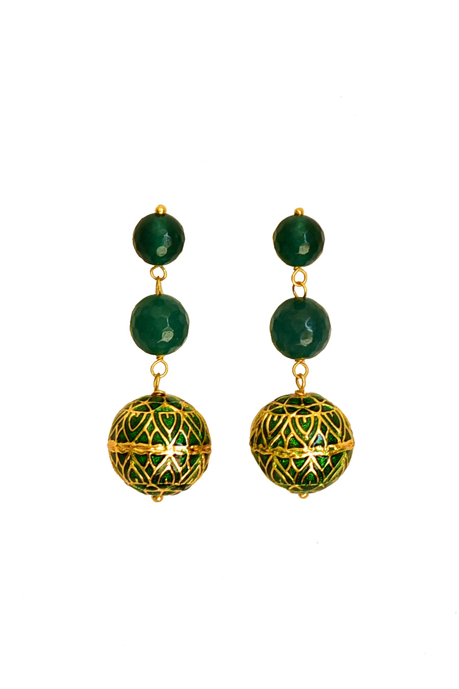 Azana Earrings (Green)