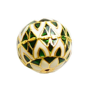 Painted Enamel Meena  Bauble Pendant