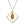 Drop Filigree Pendant Necklace Sqgold Finish
