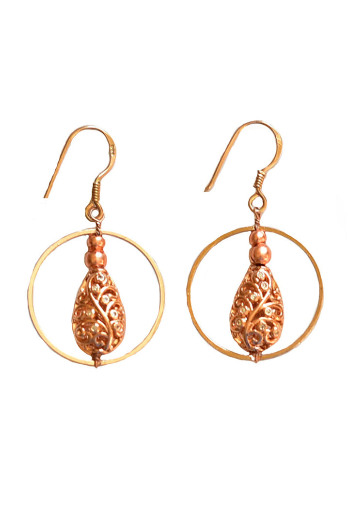 Nadia Drop Earrings - Round Loop