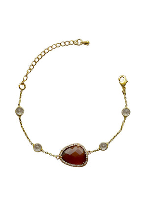 Sara Smoky Brown Bracelet