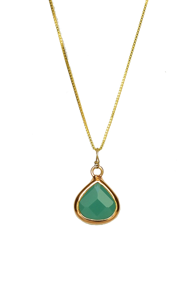 Drop Pendant Necklace-Pendant-thejewelsjarstore-Green-M's Gems DMCC