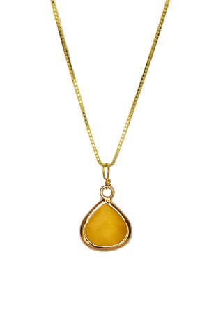 Drop Pendant Necklace-Pendant-thejewelsjarstore-Yellow-M's Gems DMCC