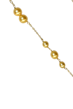 Amara Tassel Necklace (Gold) - Cubic Zirconia and  Pearl