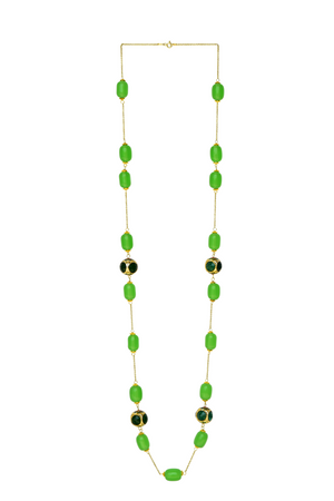 Hala Long Necklace (Green)