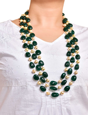Pearl Necklace with Quartz