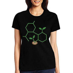 GAMSJM Adult CBD Molecule Cannabis Sprout Women T-Shirt Girls Lightweight Run Casual