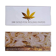 SUHAPPY 10Pcs/Box Gold Cigarette Rolling Paper Classic Smoking Paper Tobacco Cigarette Accessories