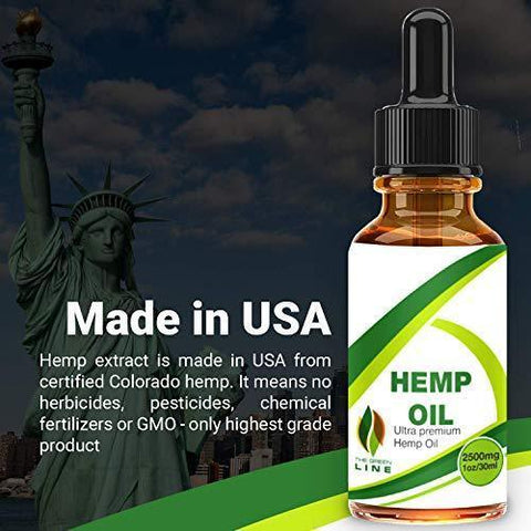 Hemp Oil Drops 2500mg, 100% Seed Extract, Supports Anti-Anxiety and Stress Health, All Natural Dietary Supplement, Rich in Omega 3 and 6 Fatty Acids for Skin & Heart Health, Vegan Vegetarian Friendly,