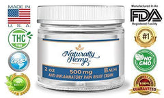 Naturally Hemp Oil Balm - 2oz Jars - 99.9% Pure with 500mg Hemp Oil - Pain Relief Rub - Joint Pain - Acne - Arthritis - Inflammation & More