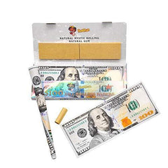 Satelliter Fake Money, Rolling Papers with Filter Tips, Wallets of Cigarette Rolling Papers 110 * 45MM(2 Wallet)
