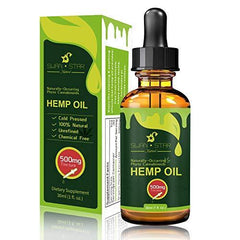 Hemp Oil for Pain Relief, Relieve Inflammation, Stress Support, Anti Anxiety, 100% Pure Organic Hemp Extract Oil (500mg)