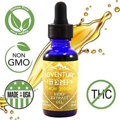 Lemon 2500mg Hemp Oil for Pain Relief, Stress Support, Anti Anxiety, Sleep Supplements. Herbal Drops Rich in MCT Fatty Acids Natural Anti Inflammatory 1 FL oz. (30 ml) (Lemon or Peppermint))