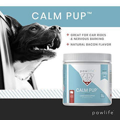 pawlife Calming Treats for Dogs - Hemp Oil Infused Soft Chews for Dog Anxiety Support- 120 Dog Calming Treats (Bacon)