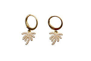 Palma diamond earrings