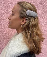 Load image into Gallery viewer, Fergie hair clip | grey fur
