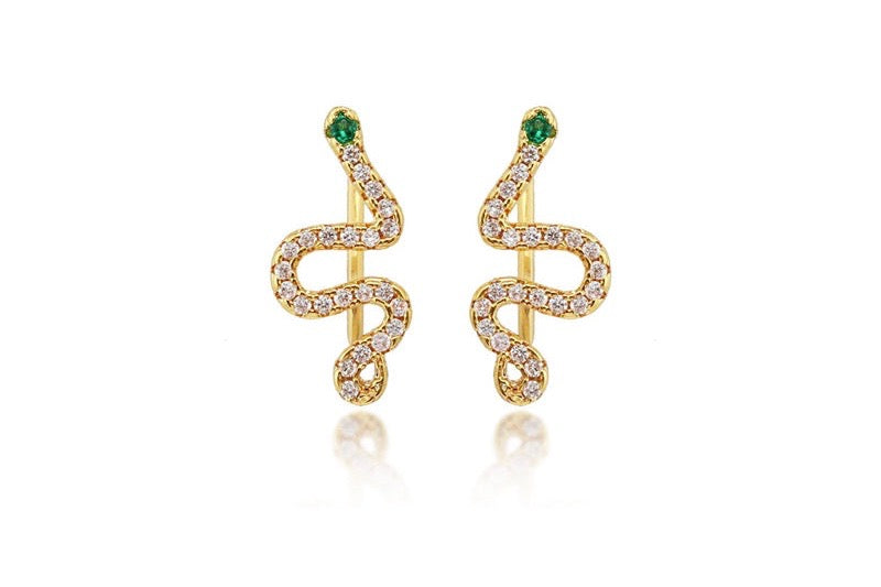 Viga earrings | green/white