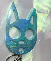 Holographic Kittie Knuckle Keychain