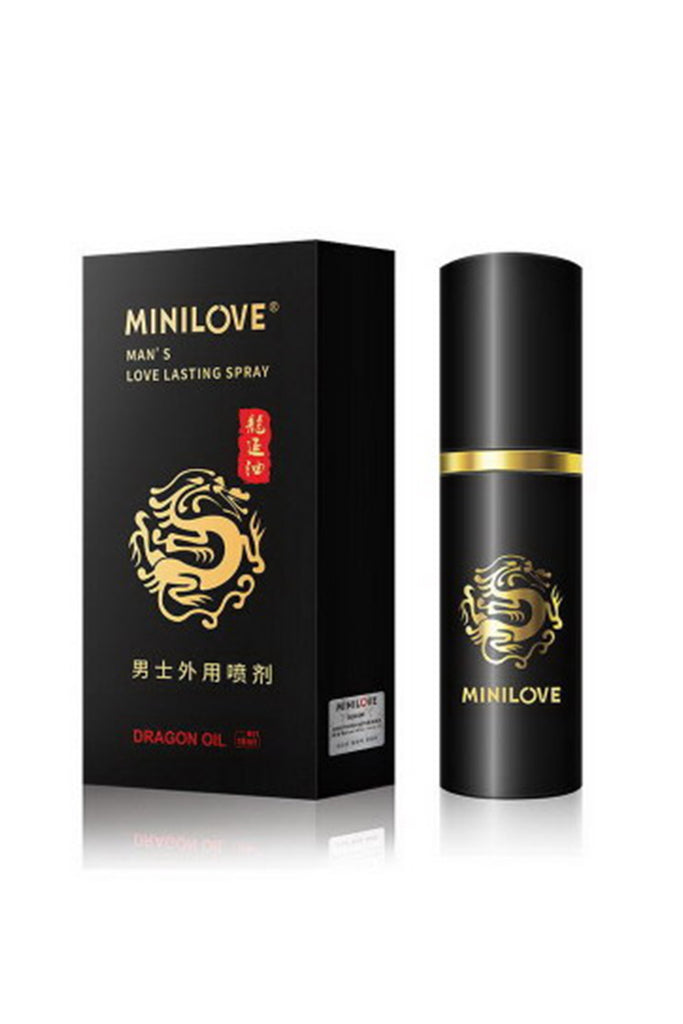MiniLove Organic Oil Delay Spray for Men Black 10ml