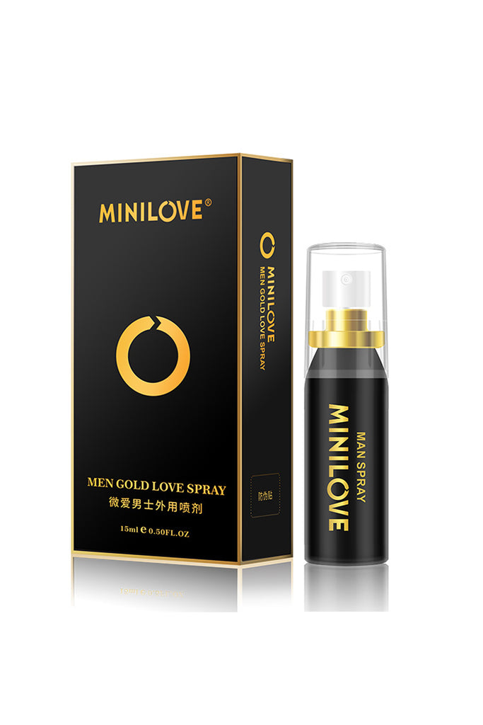 MiniLove Men's Organic Oil Delay Spray  Golden 15ml