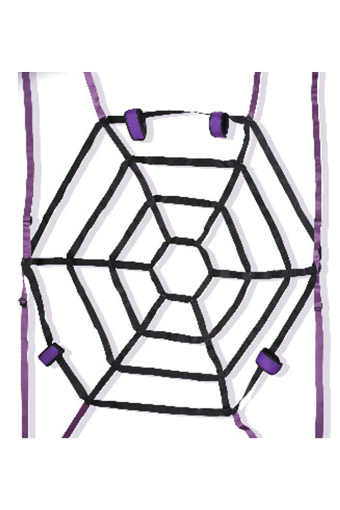 Spider Web Bed Restraint System Bondage Kit