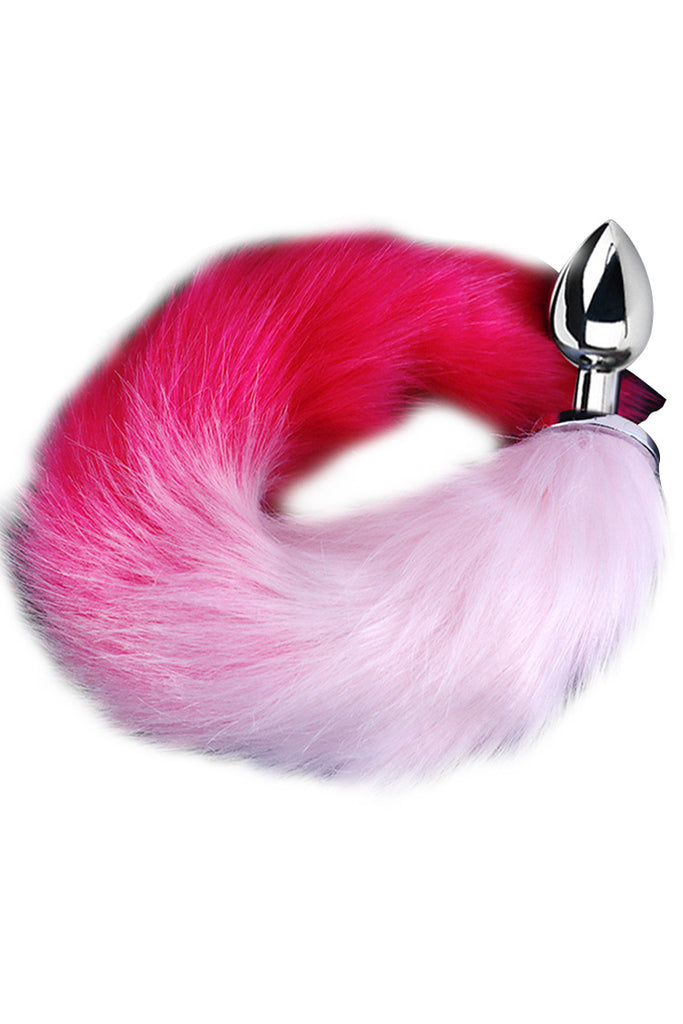 Faux Fox Tail Stainless Steel Anal Plug