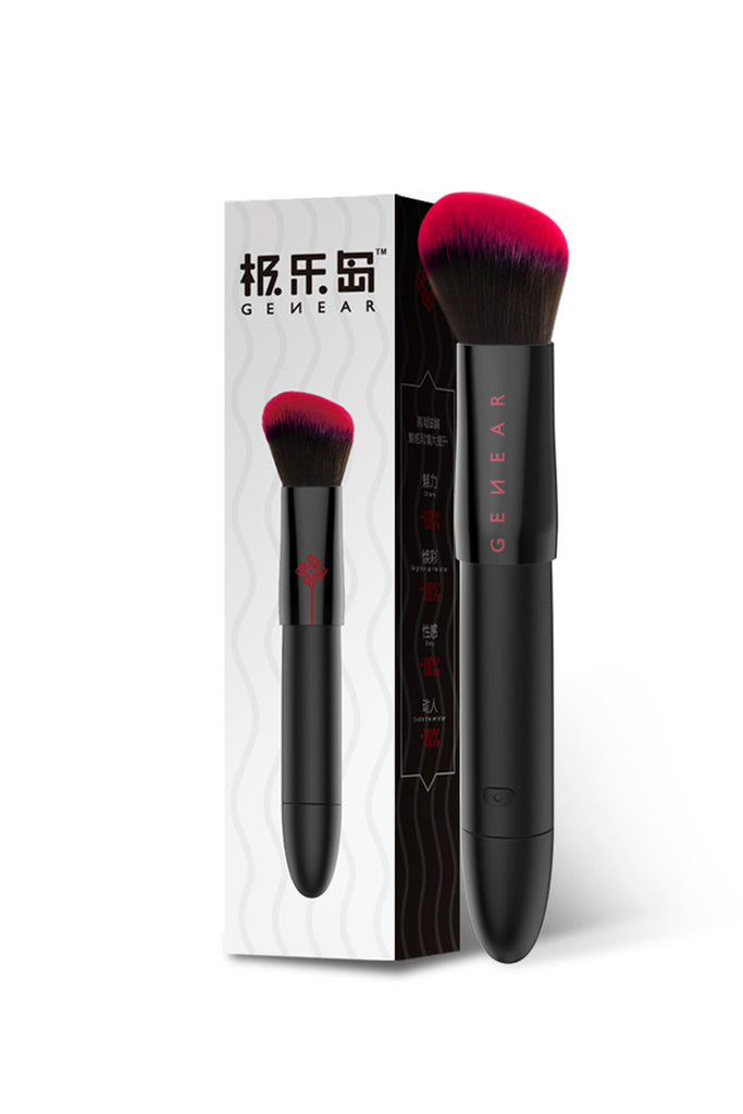 MizzZee Intelligent Heating Makeup Brush Shape Clit Vibrator