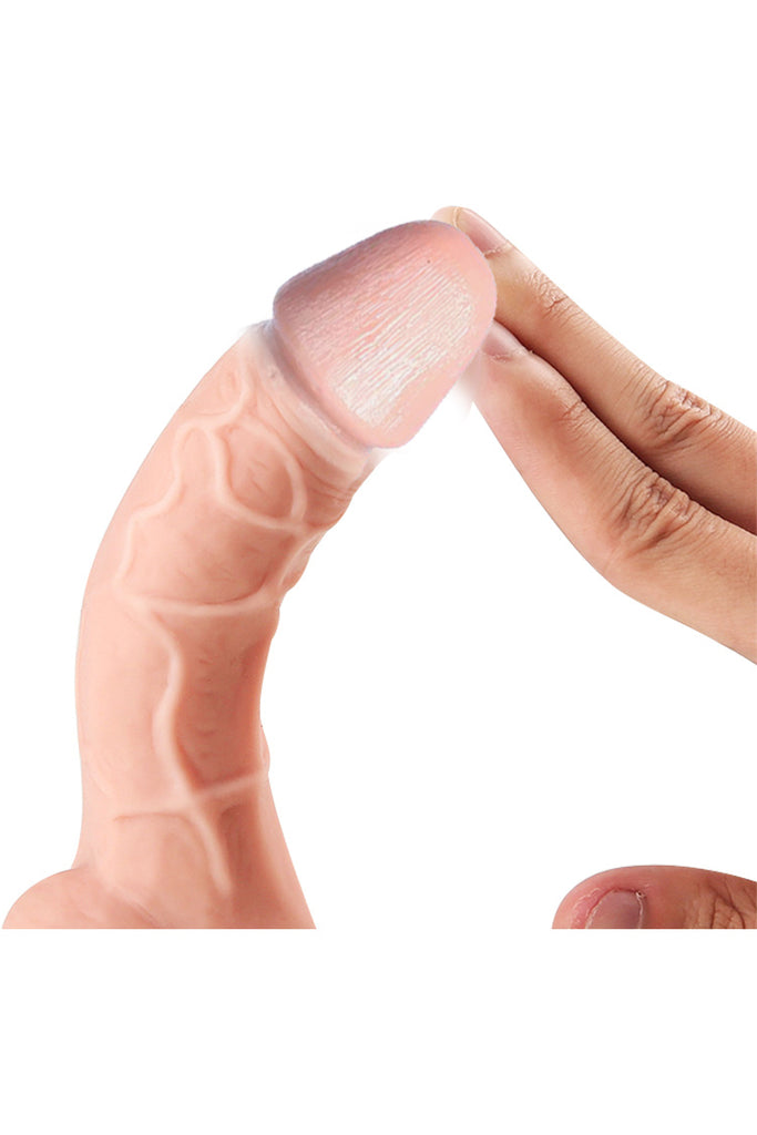 Hands Free Realistic Vibrating Dildo with Suction Cup Base