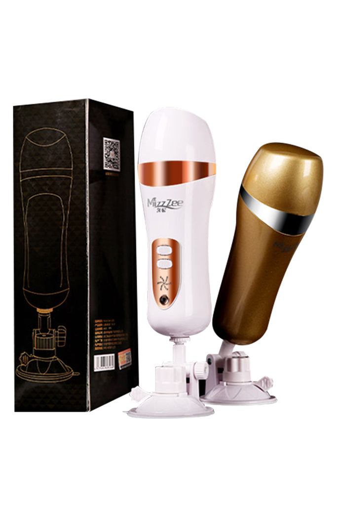 MizzZee Hands Free Vibrating Male Masturbator with Removeable Base
