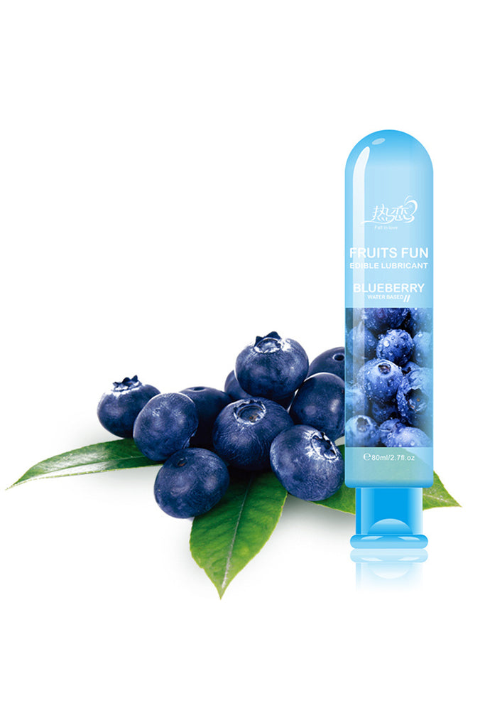 Edible Blueberry Flavour Water-Based Sex Lube 2.7oz