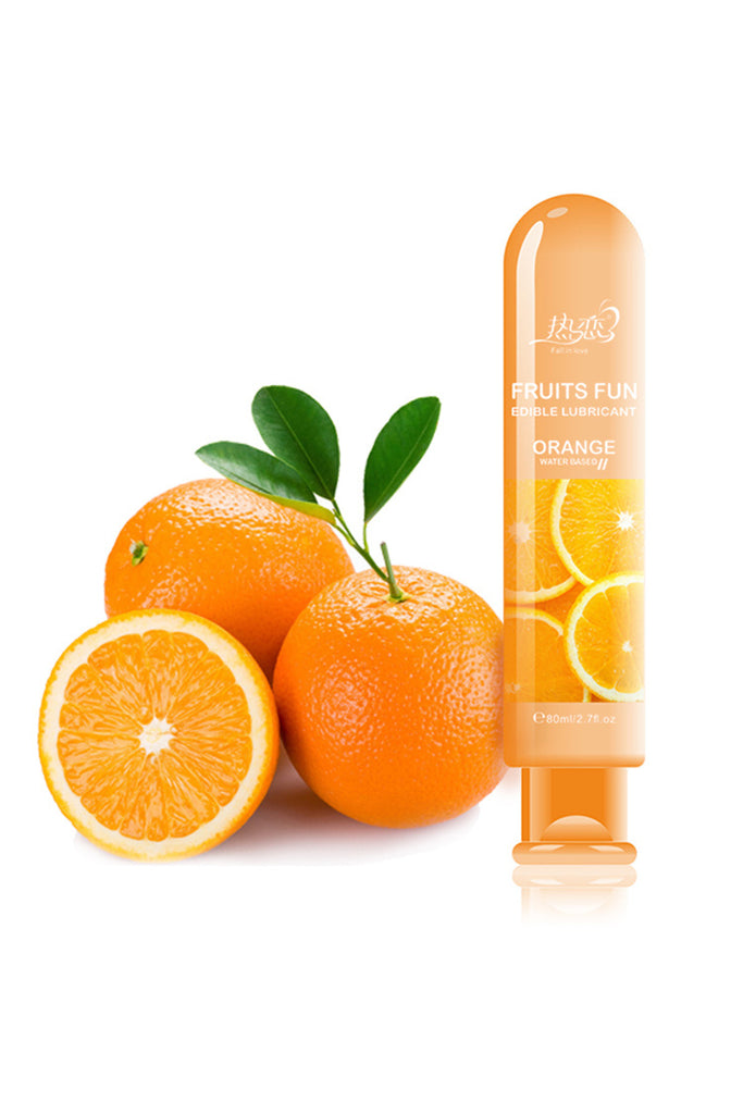Orange Flavour Edible Water-Based Personal Lubricant 2.7oz