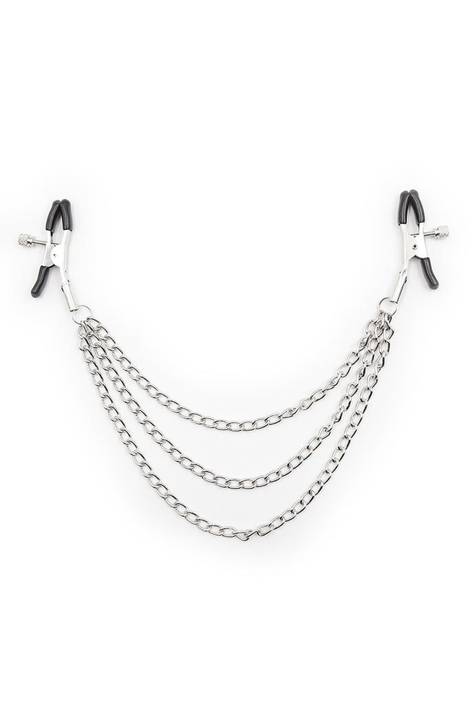 Nipple Clamps with Three Metal Chains