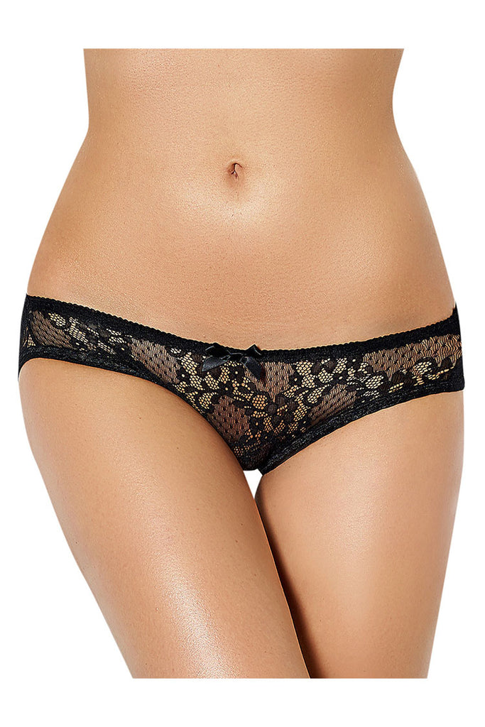 Sexy Floral Lace Open-Back Spanking Panties